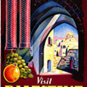 Palestine Travel Poster Art Print