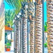 Palm Columns Art Print