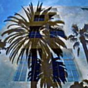 Palm Mural Art Print