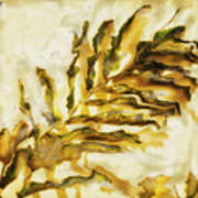 Palm On Wall Art Print