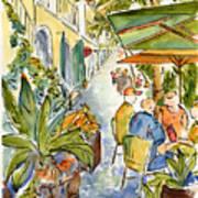 Palm Passage Print by Pat Katz
