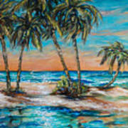 Palm Reflection Lagoon Art Print