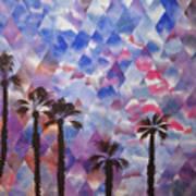 Palm Springs Sunset Art Print