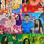 Palm Sunday Vignetes Art Print