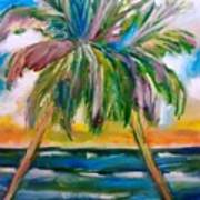 Palm Tree Color Times Two Art Print