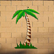 Palm Tree Sign Art Print