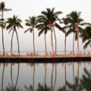 Palm Trees And Beach Chairs Art Print