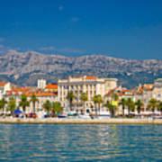 Palm Waterfront Of Split City Art Print