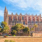 Palma Cathedral D40180 Art Print
