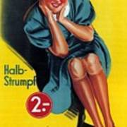 Palmers - Halb-strumpf - Vintage Germany Advertising Poster Art Print