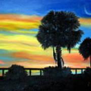 Palmetto Nights Art Print