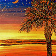 Palmetto Sunset  Art Print
