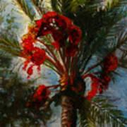 Palm's A Glow Art Print