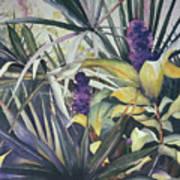Palms And Hyacinths Art Print