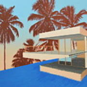 Palms On The Edge Art Print