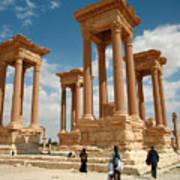 Palmyra-tetrapylon Art Print