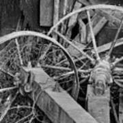Palouse Farm Wheels 3156 Art Print