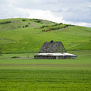 Palouse Old Barn Art Print