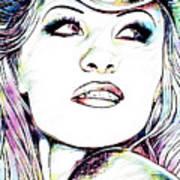 Pamela  Anderson Portrait Art Print