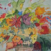 Pams Flowers Art Print