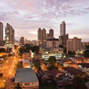 Panama City At Night Art Print