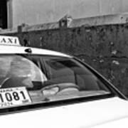 Panama City Taxi Mono Art Print