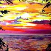 Panama.pacific Sunrise Art Print