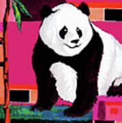 Panda Abstrack Color Vision  Art Print