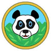 Panda Bear Head Art Print