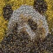 Panda Coin Mosaic Art Print
