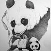 Panda Collage Art Print