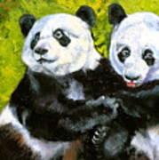 Panda Date Art Print by Susan A Becker