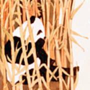 Panda In Bamboo Art Print