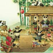 Pandabears Christmas 03 Art Print by Kestutis Kasparavicius