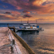 Pandanon Island Sunset Art Print