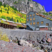 Pandora Mill - Telluride - Colorful Colorado Art Print