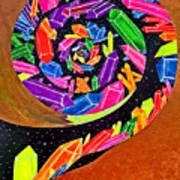 Pangea Spiral Art Print