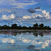 Pano Cambodia Lake  Art Print