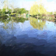 Panorama 2 Of Monets Garden In Giverny Art Print