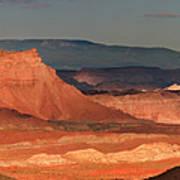 Panorama Dawn Light On The San Rafael Swell Utah Art Print