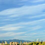 Blue Sky Over Vancouver City Skyline. Art Print