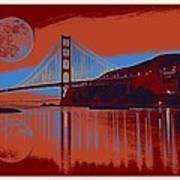 Panorama Golden Gate Bridge Landmark 2 Art Print