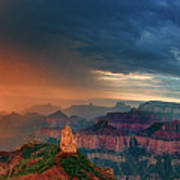 Panorama North Rim Grand Canyon Arizona Art Print