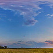 Panorama Of A Colorful Sunset Art Print