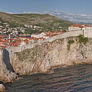 Panorama Of Dubrovnik, Croatia, In The Afternoon Art Print