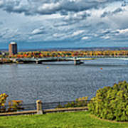 Panorama Of Gatineau, Quebec And Ottawa, Ontario Looking East On The Ottawa River Art Print