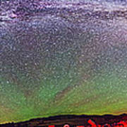 Panorama Of Milky Way Above The Table Art Print