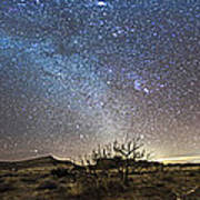 Panorama Of Milky Way And Zodiacal Art Print