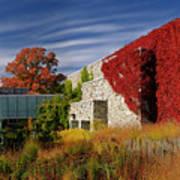 Panorama Of New Modern Building At Toronto Botanical Garden In E Art Print