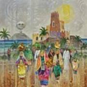 Panorama Of Oman Art Print